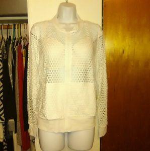 NWT yoga jacket coat zip up mesh hoodie
